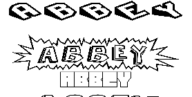Coloriage Abbey