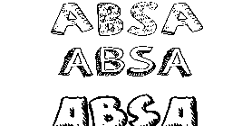 Coloriage Absa