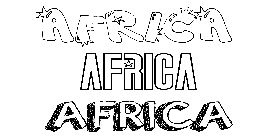 Coloriage Africa