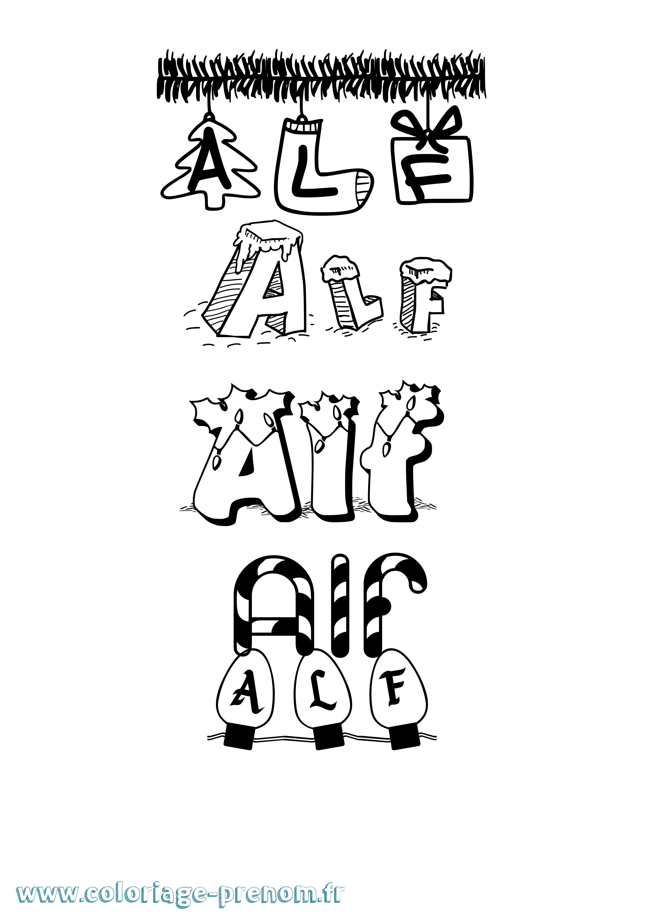 Coloriage du prénom Alf : à Imprimer ou Télécharger facilement