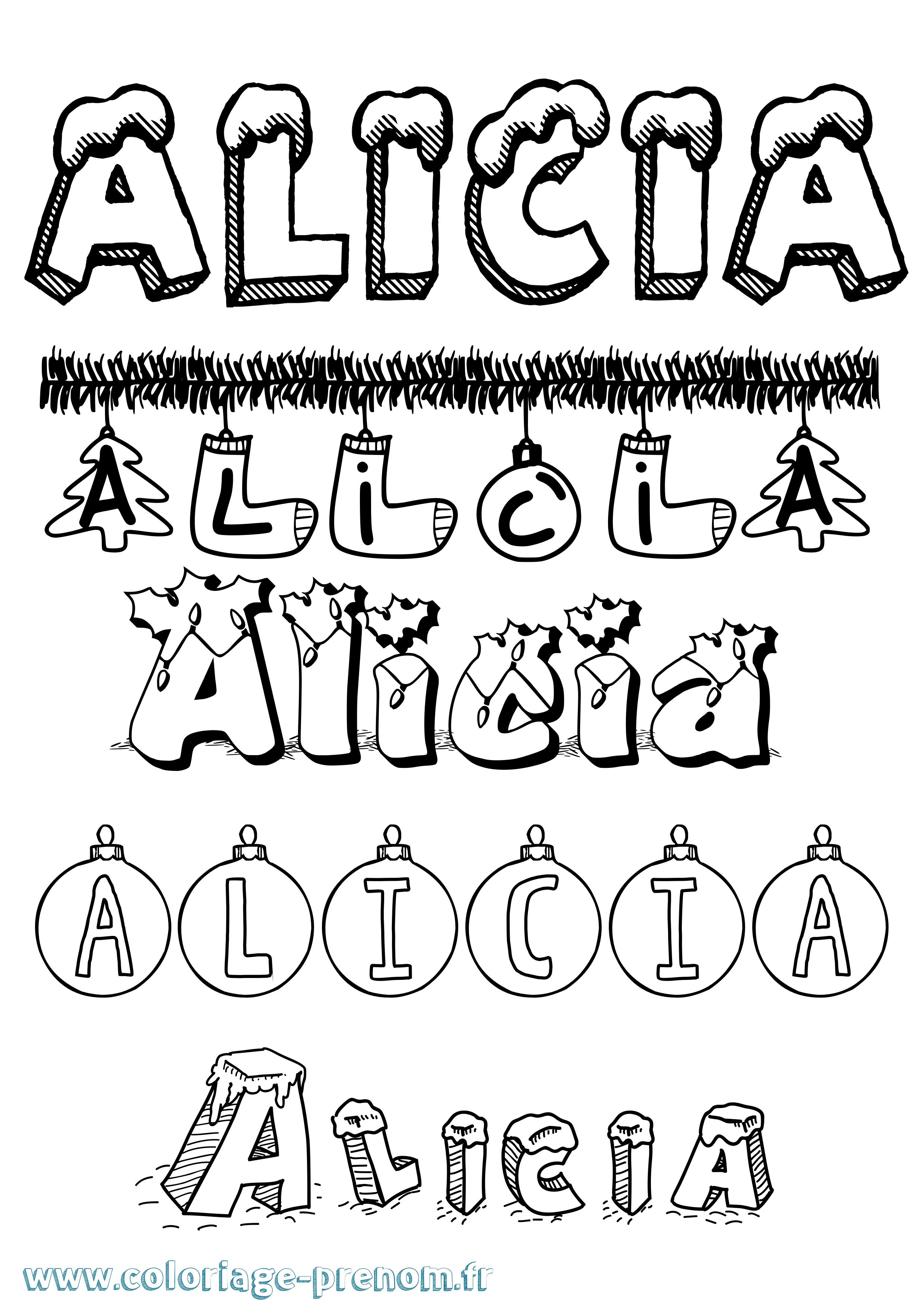 Coloriage du prénom Alicia : à Imprimer ou Télécharger ...