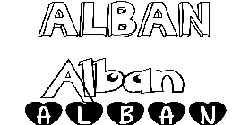Coloriage Alban