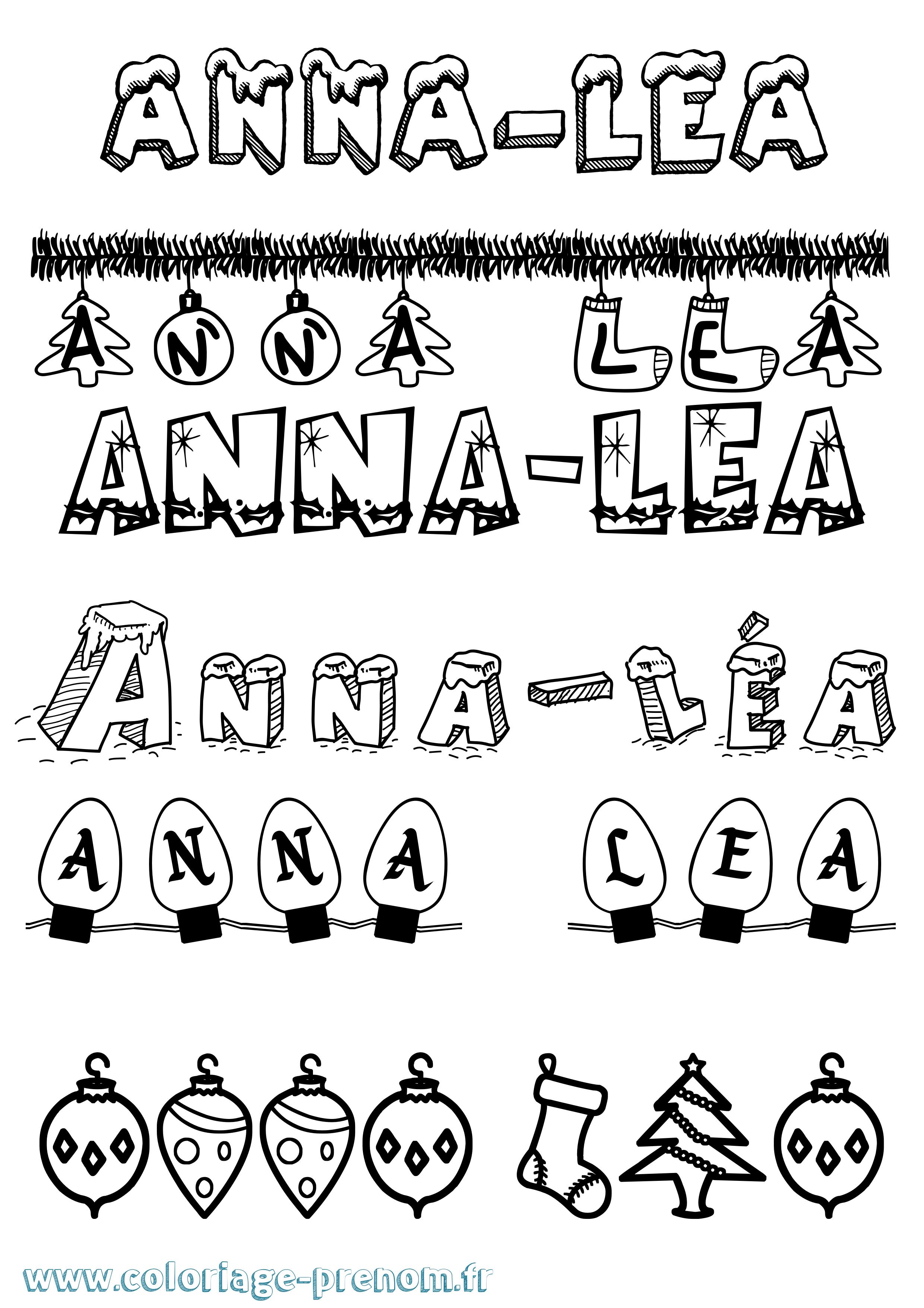 Coloriage du prénom Anna-léa : à Imprimer ou Télécharger ...