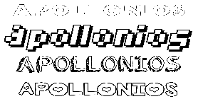 Coloriage Apollonios