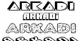 Coloriage Arkadi