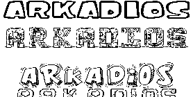 Coloriage Arkadios