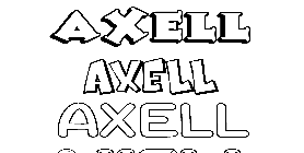 Coloriage Axell