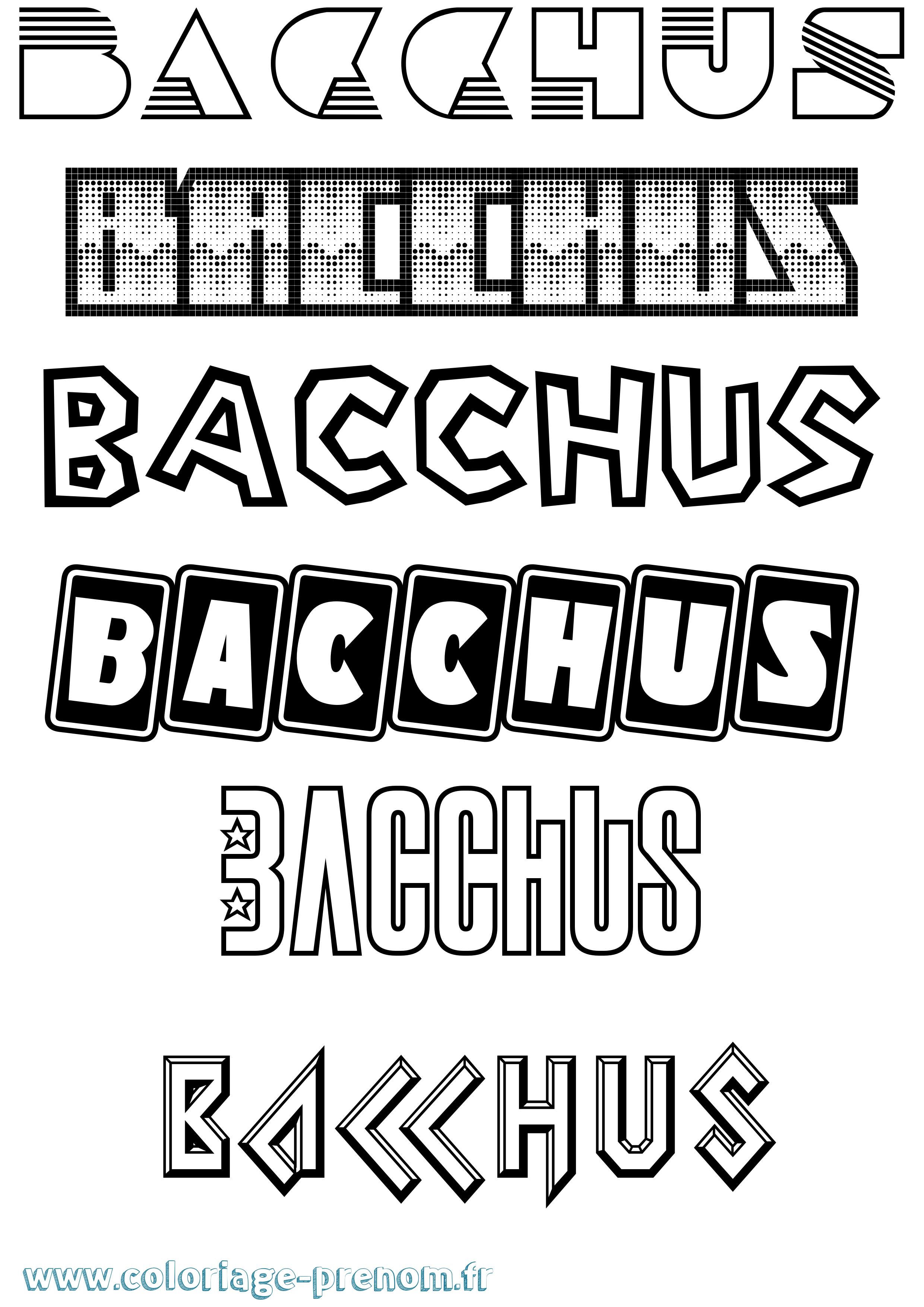 bacchus dessin coloriage