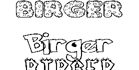 Coloriage Birger