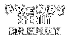 Coloriage Brendy