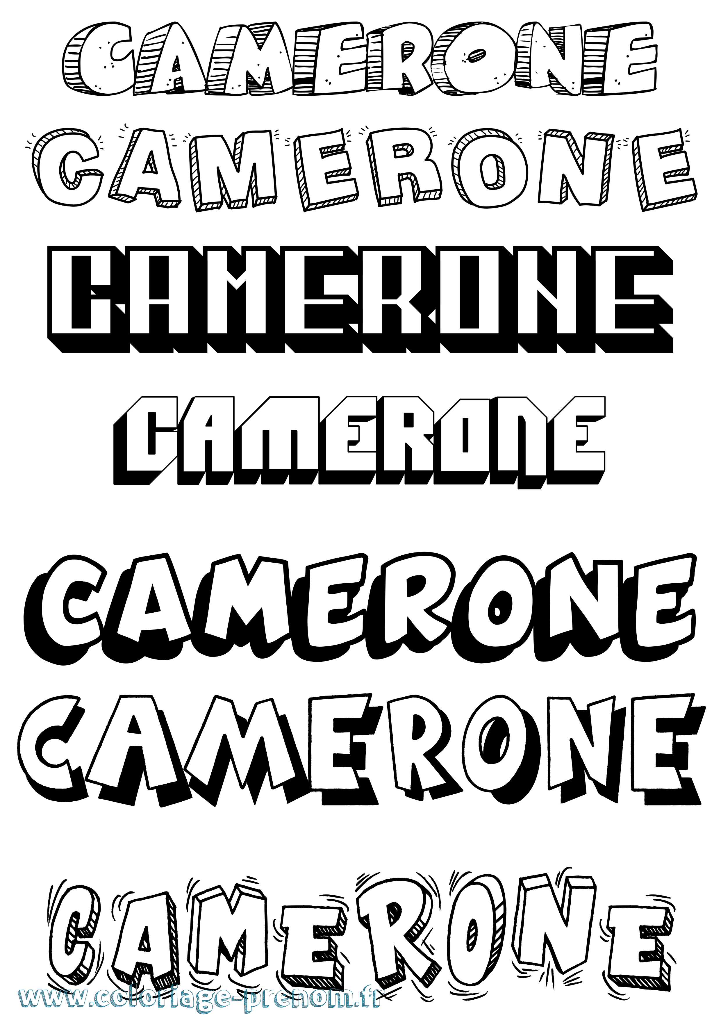Coloriage du prénom Camerone : à Imprimer ou Télécharger ...