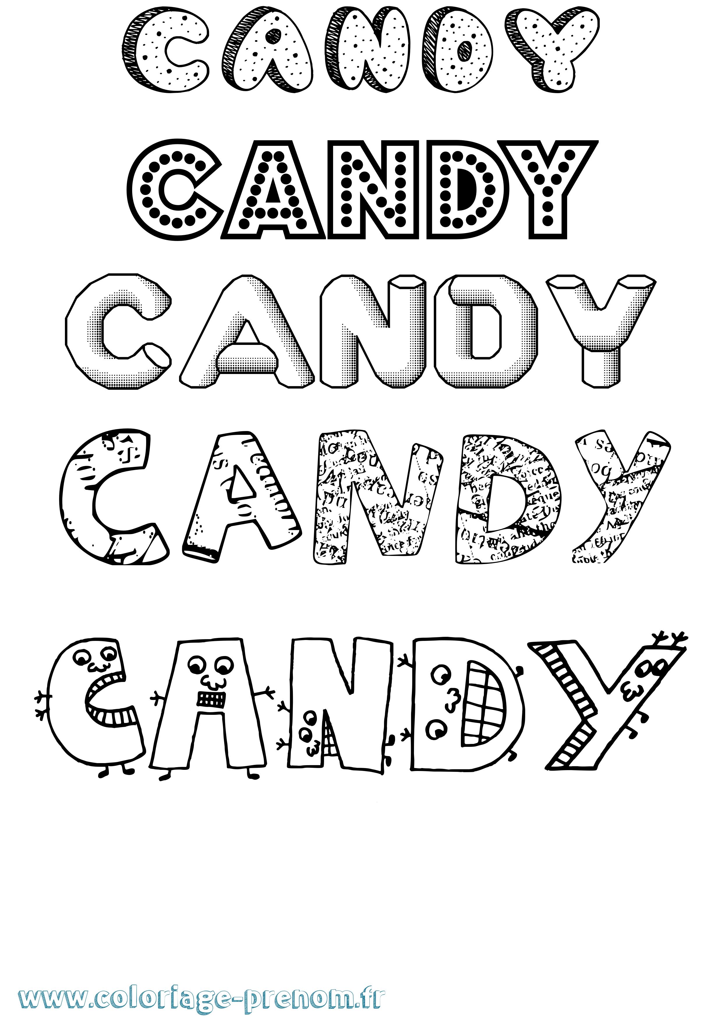 Coloriage du prénom Candy : à Imprimer ou Télécharger ...