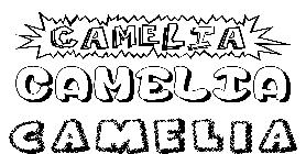 Coloriage du pr nom camellia imprimer ou t l charger facilement - Camelia prenom ...