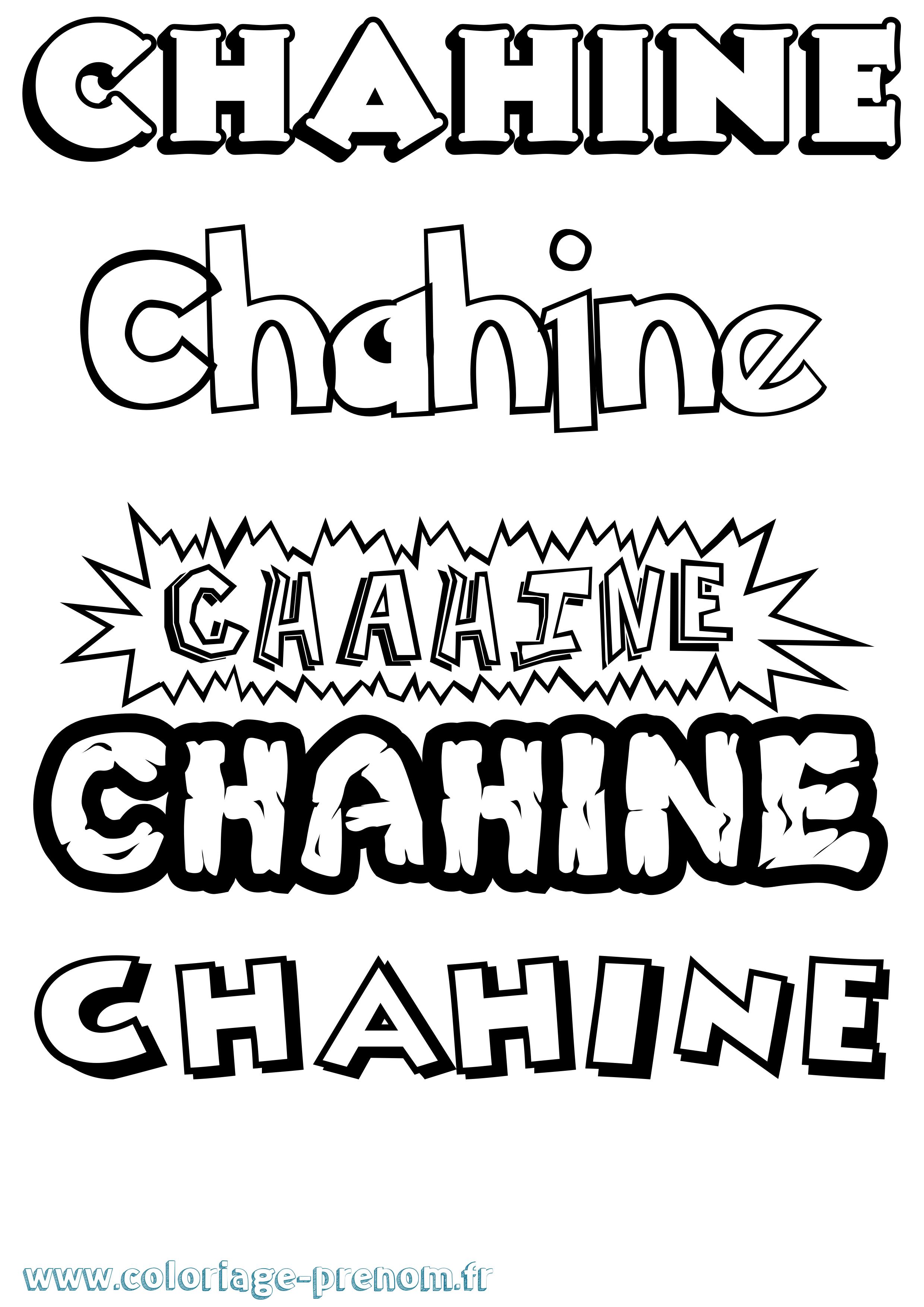 Coloriage Dessin Anime 2019.Coloriage Du Prenom Chahine A Imprimer Ou Telecharger Facilement