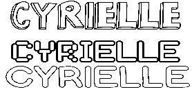Coloriage Cyrielle