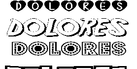 Coloriage Dolores
