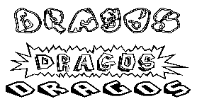 Coloriage Dragos