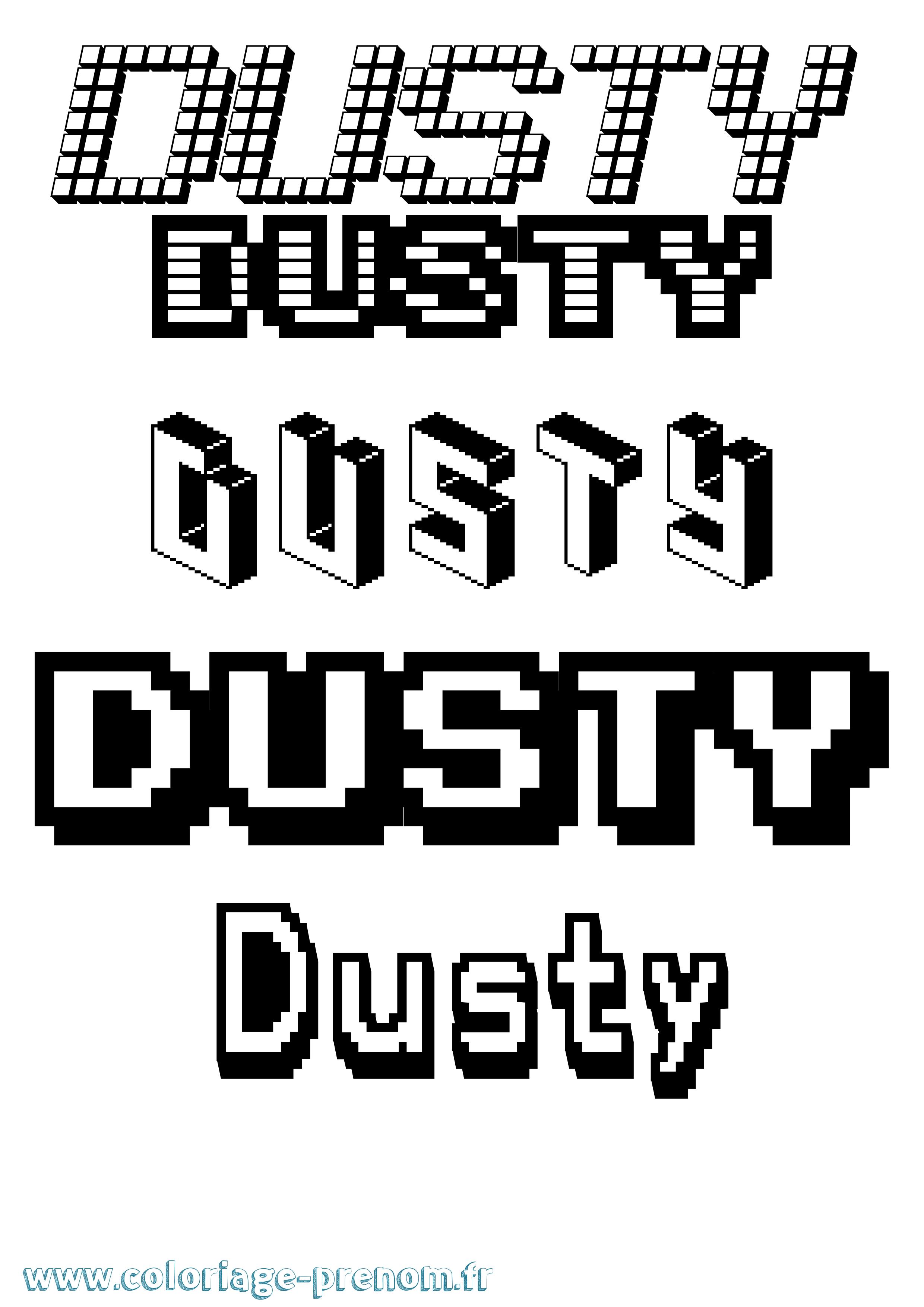 Coloriage du prénom Dusty : à Imprimer ou Télécharger ...
