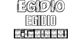 Coloriage Egidio