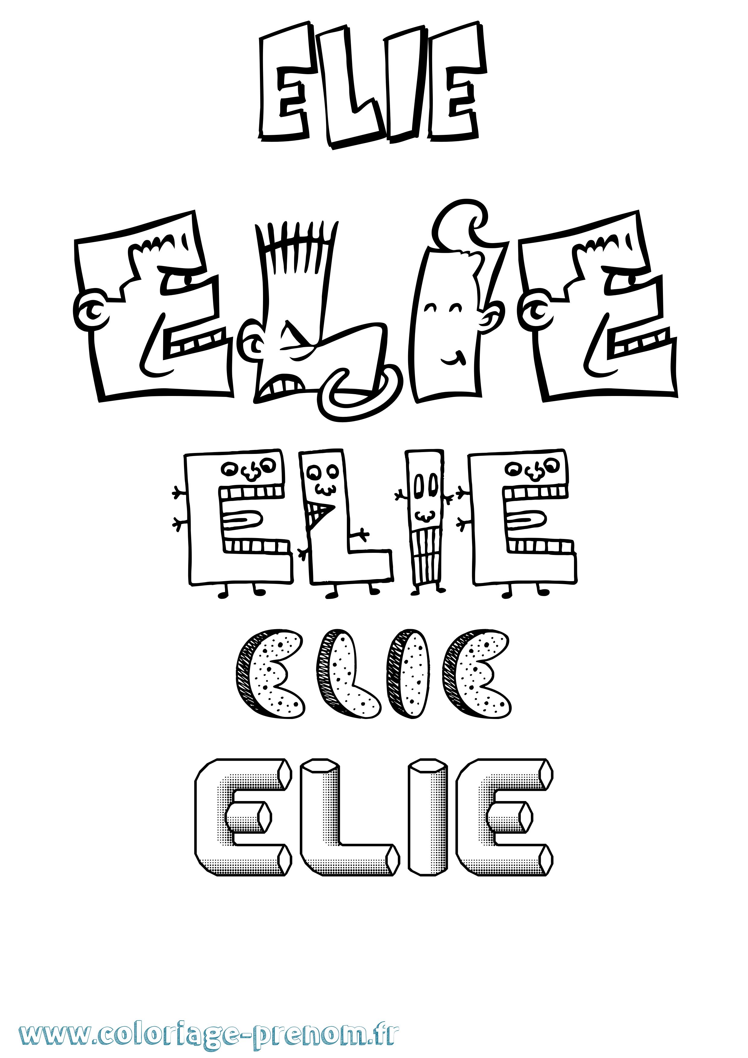 Coloriage du prénom Elie : à Imprimer ou Télécharger ...