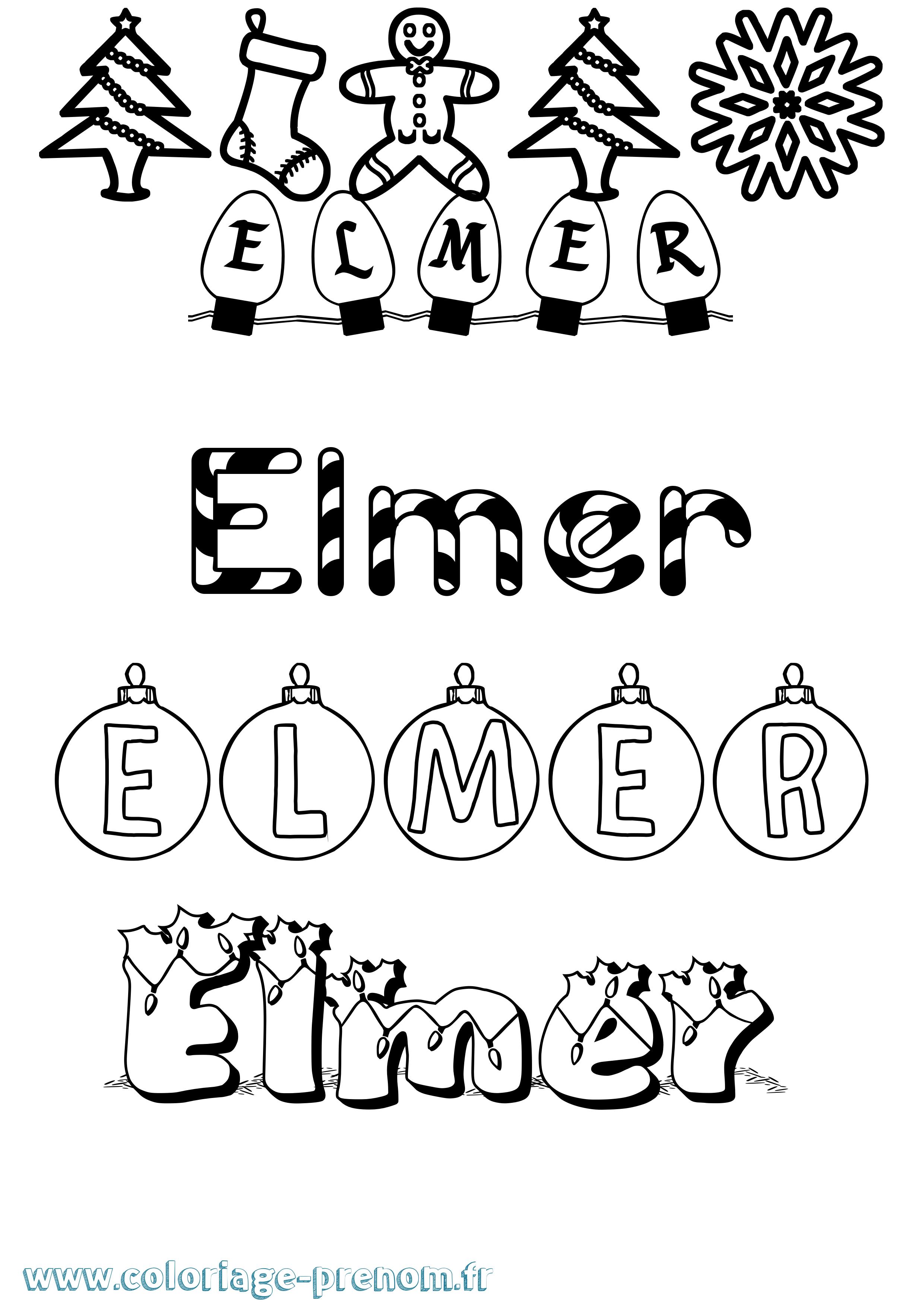 Coloriage Elmer A Imprimer.Coloriage Du Prenom Elmer A Imprimer Ou Telecharger Facilement
