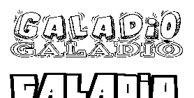 Coloriage Galadio