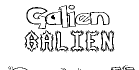 Coloriage Galien