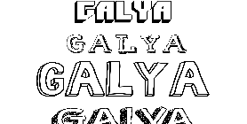 Coloriage Galya