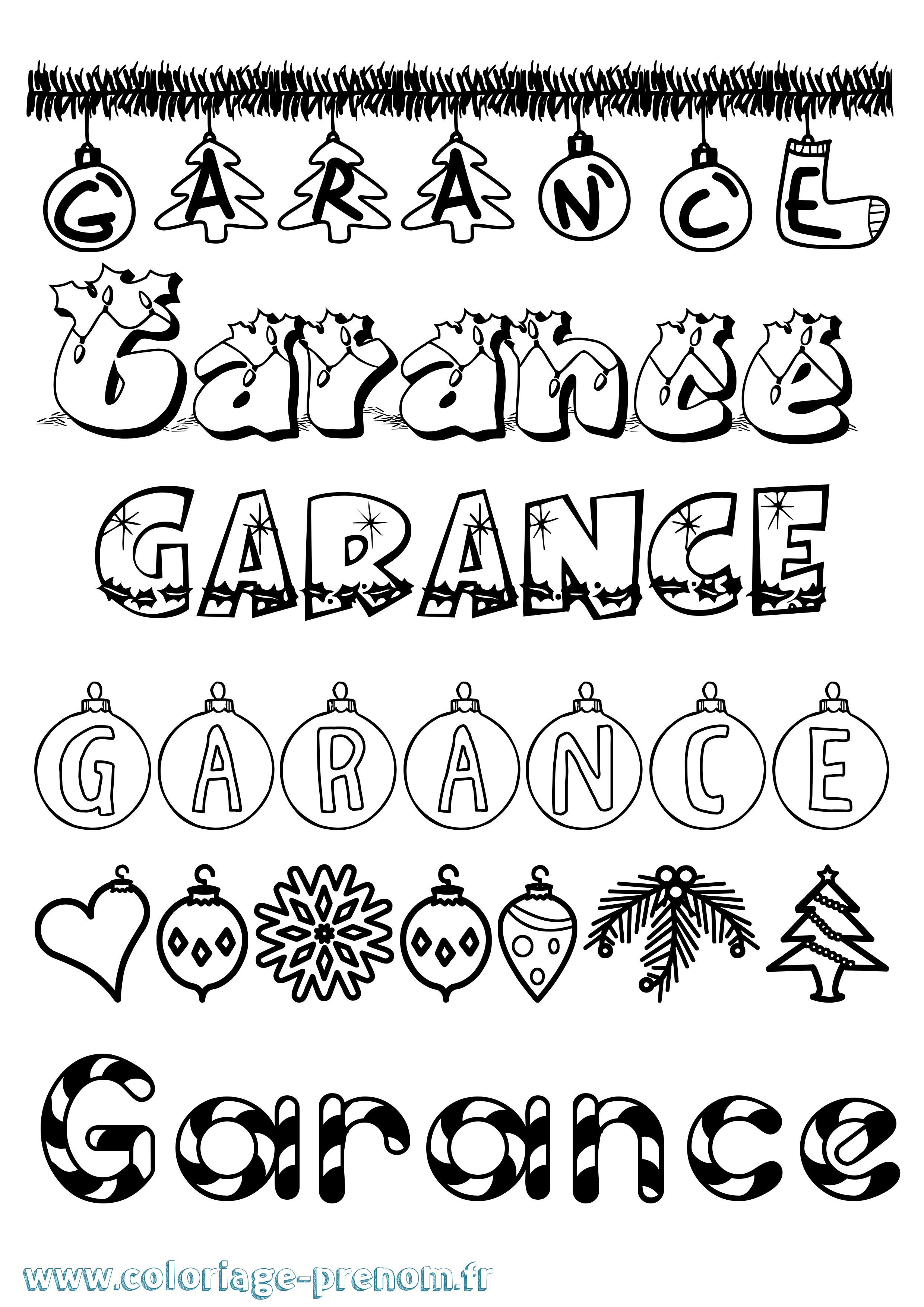 Coloriage du pr nom garance imprimer ou t l charger facilement - Garance prenom ...