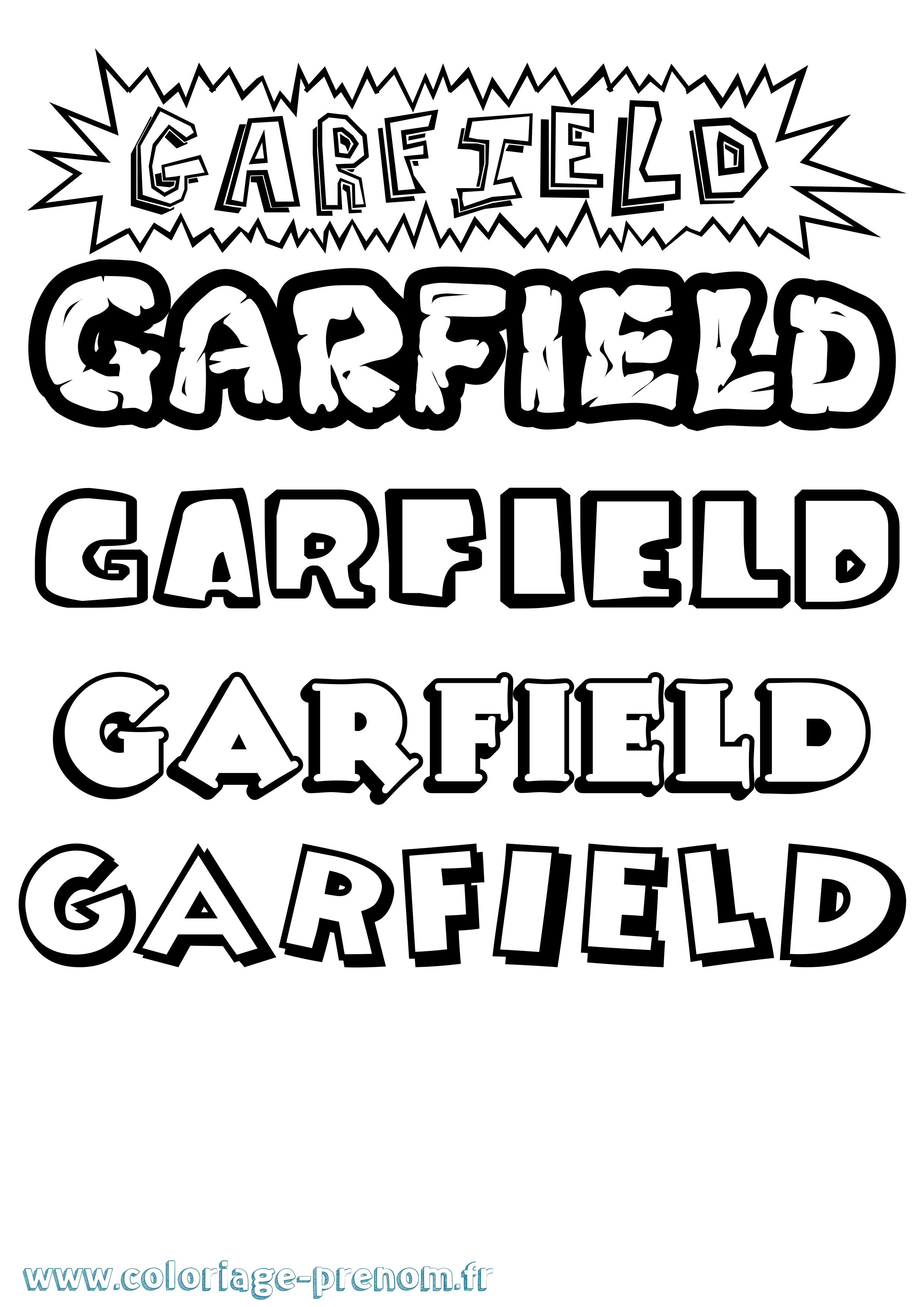 Unique Dessin A Colorier De Garfield