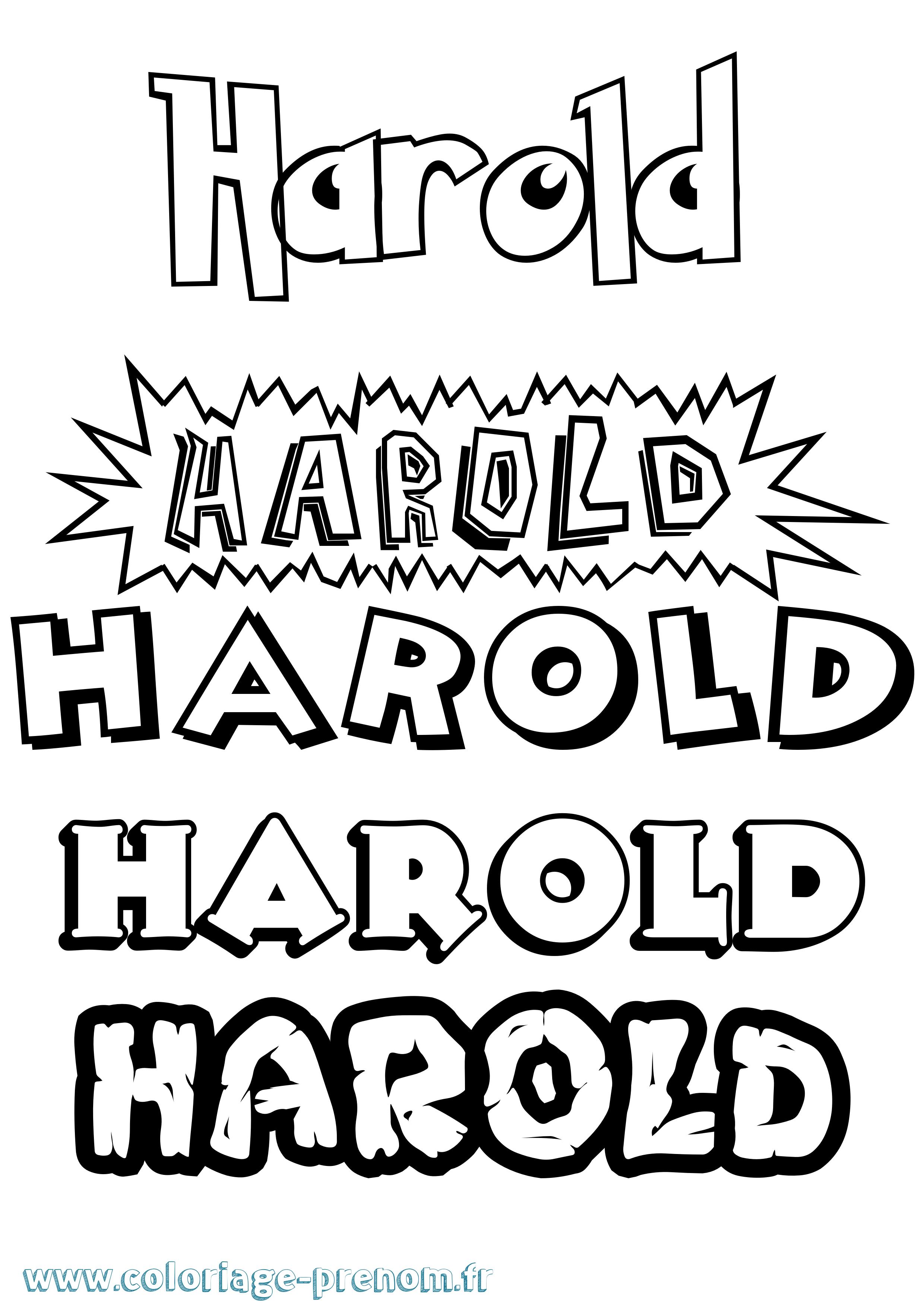 Coloriage du prénom Harold : à Imprimer ou Télécharger ...