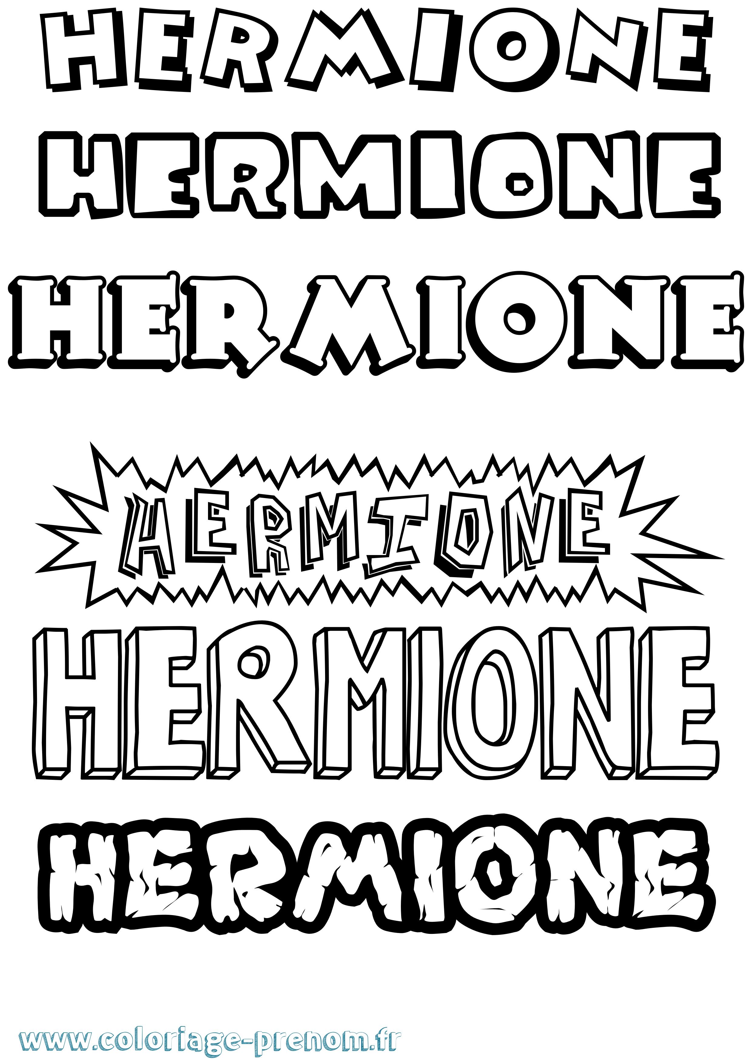 Coloriage du prénom Hermione : à Imprimer ou Télécharger ...