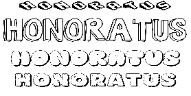 Coloriage Honoratus