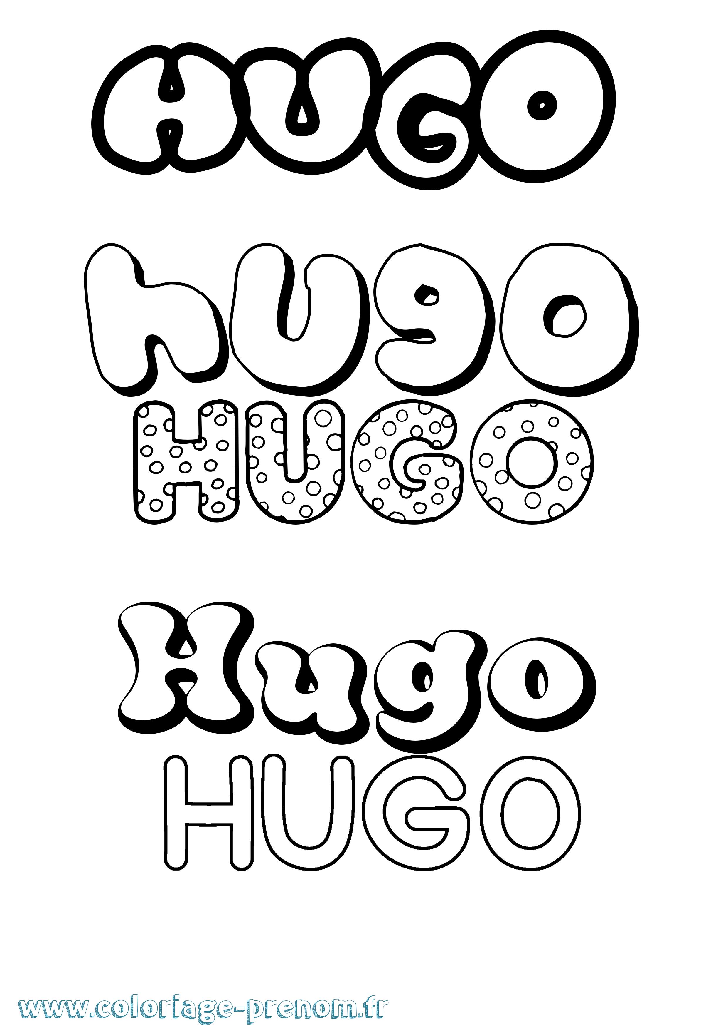 Coloriage prenom hugo www - Lulu l escargot coloriage ...