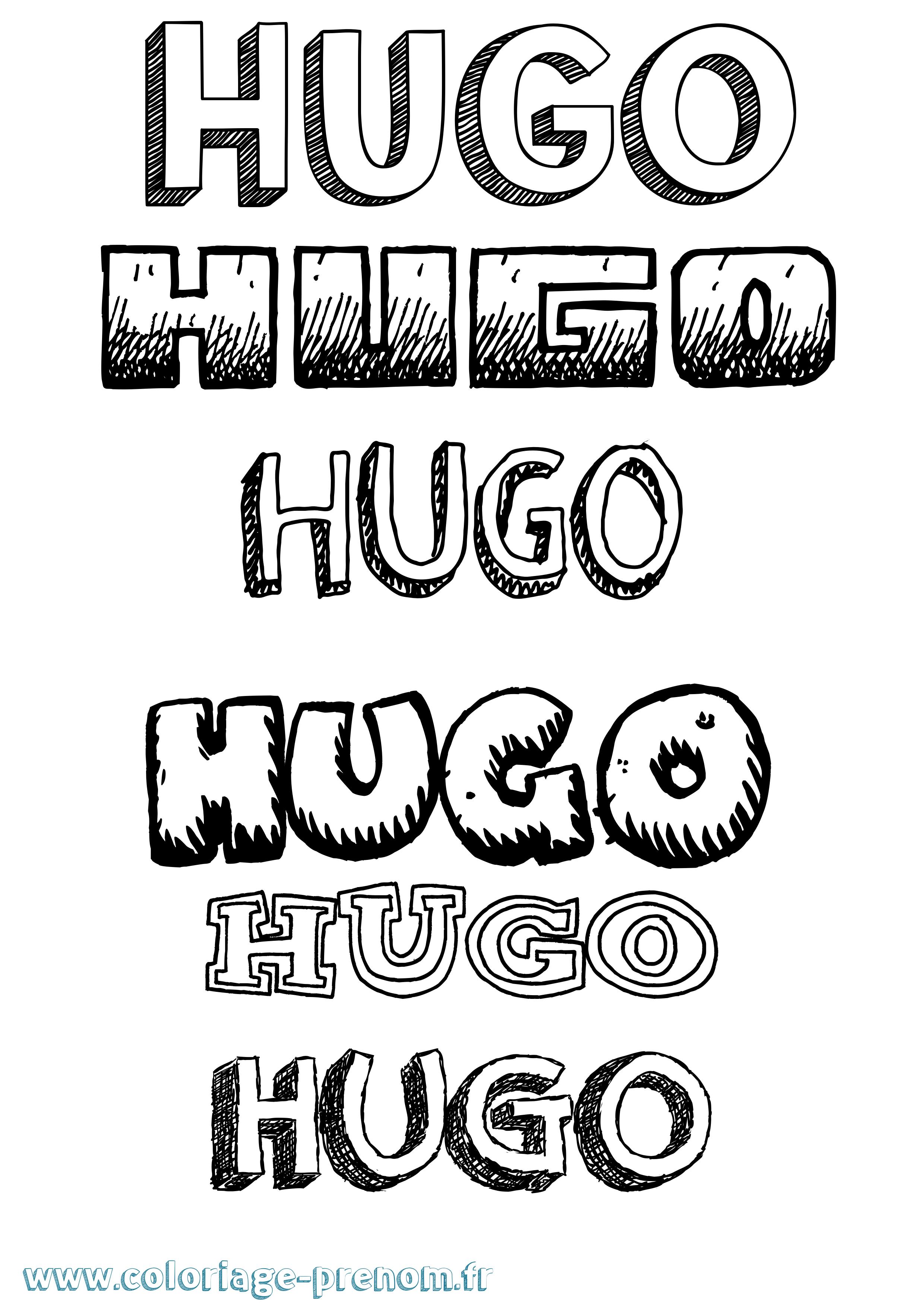 Coloriage du pr nom hugo imprimer ou t l charger facilement - Coloriage hugo ...