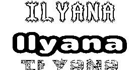 Coloriage du pr nom lyana imprimer ou t l charger - Prenom ilyana ...