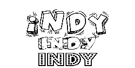 Coloriage Indy