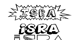 Coloriage Isra
