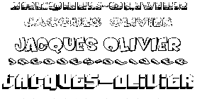 Coloriage Jacques-Olivier