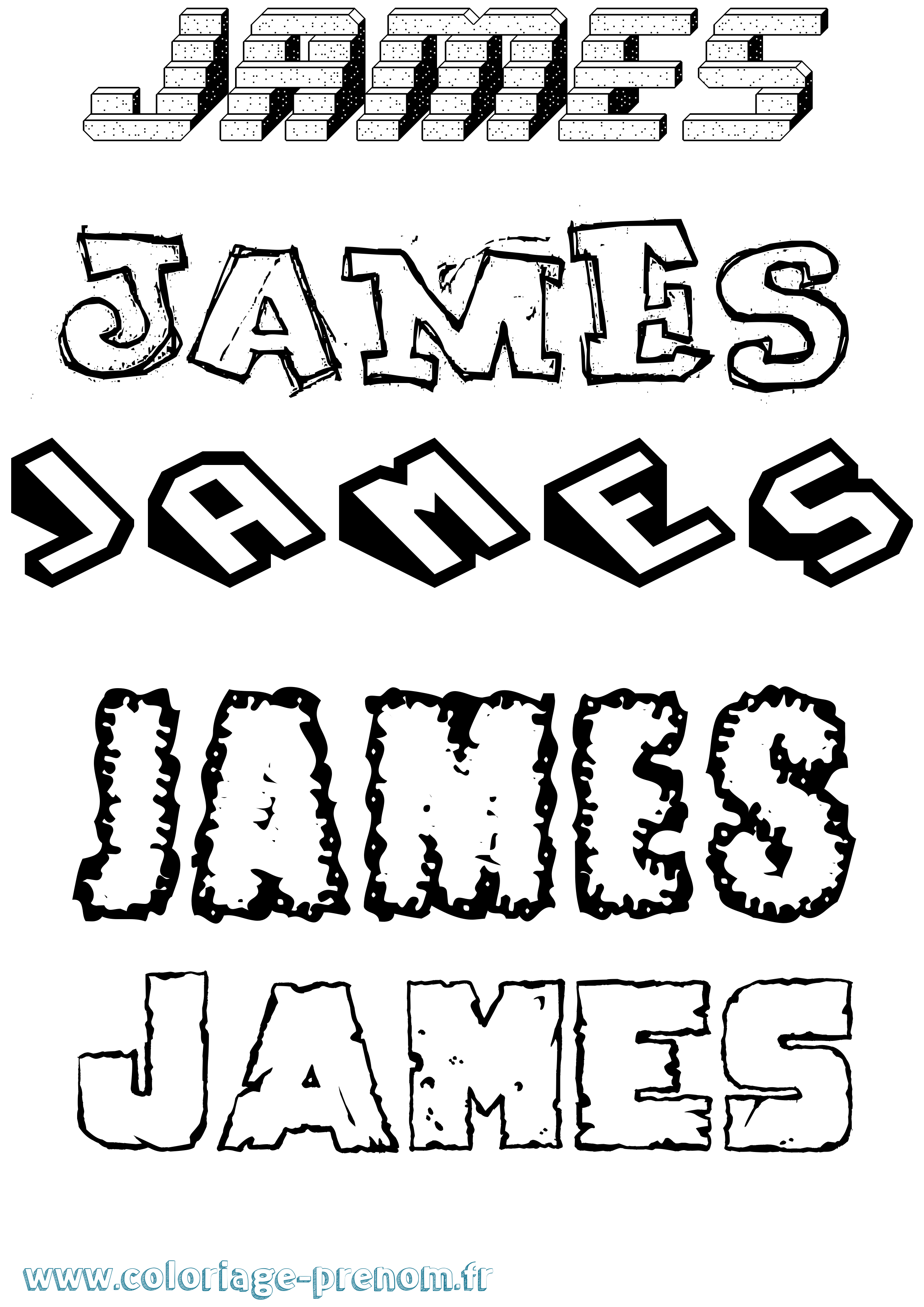 Coloriage prénom James