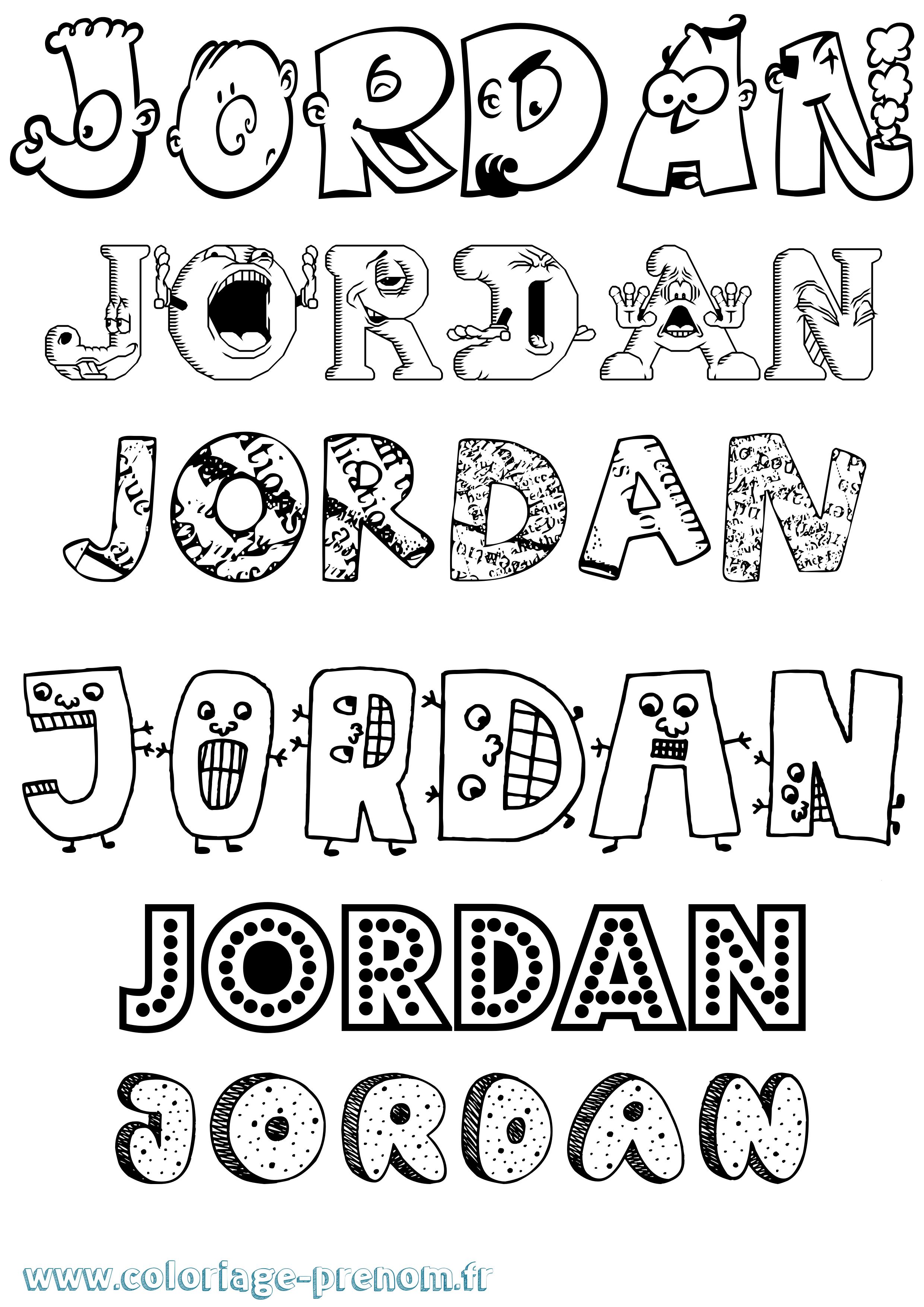 Coloriage du prénom Jordan : à Imprimer ou Télécharger ...