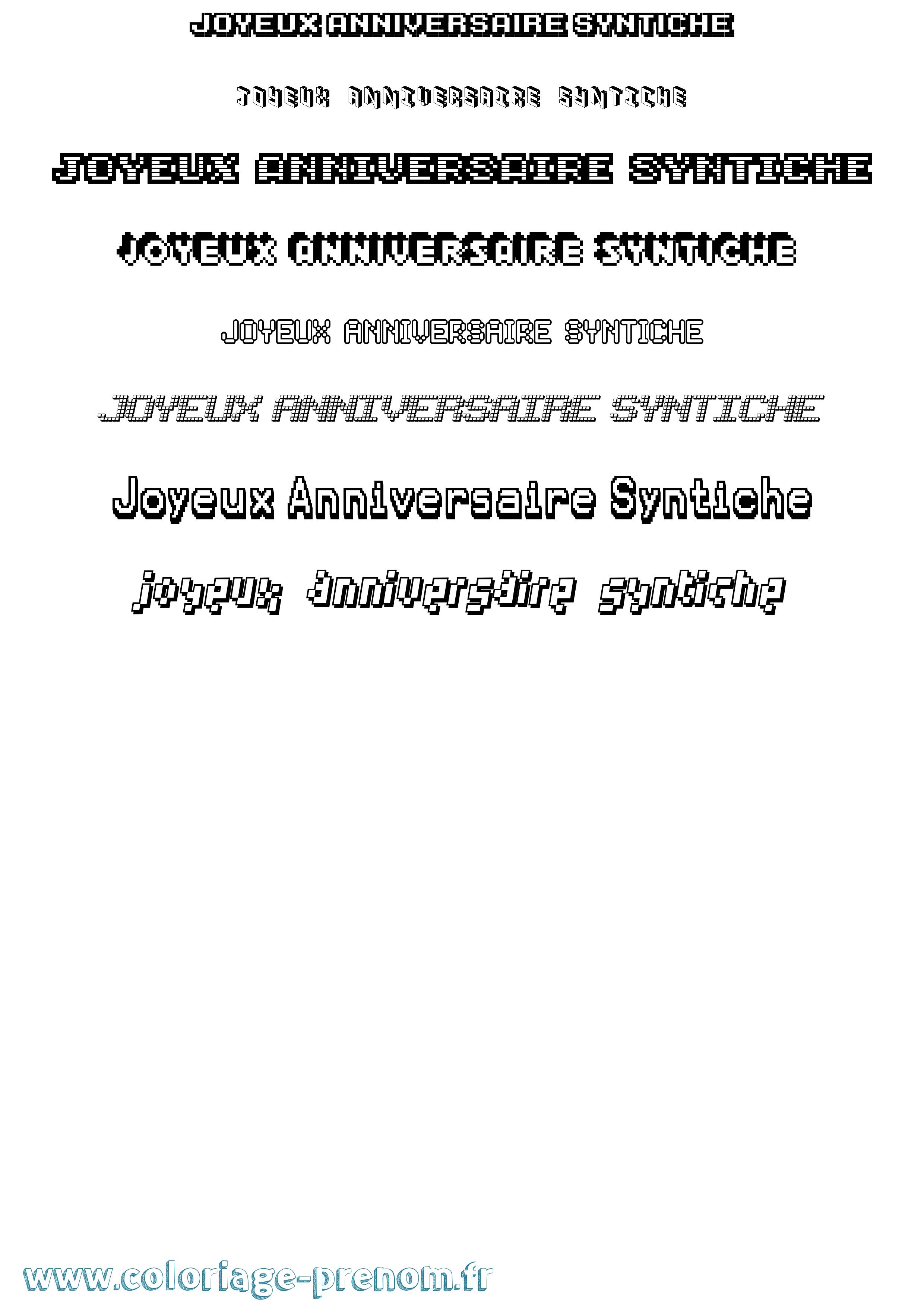 Coloriage Du Prenom Joyeux Anniversaire Syntiche A Imprimer Ou