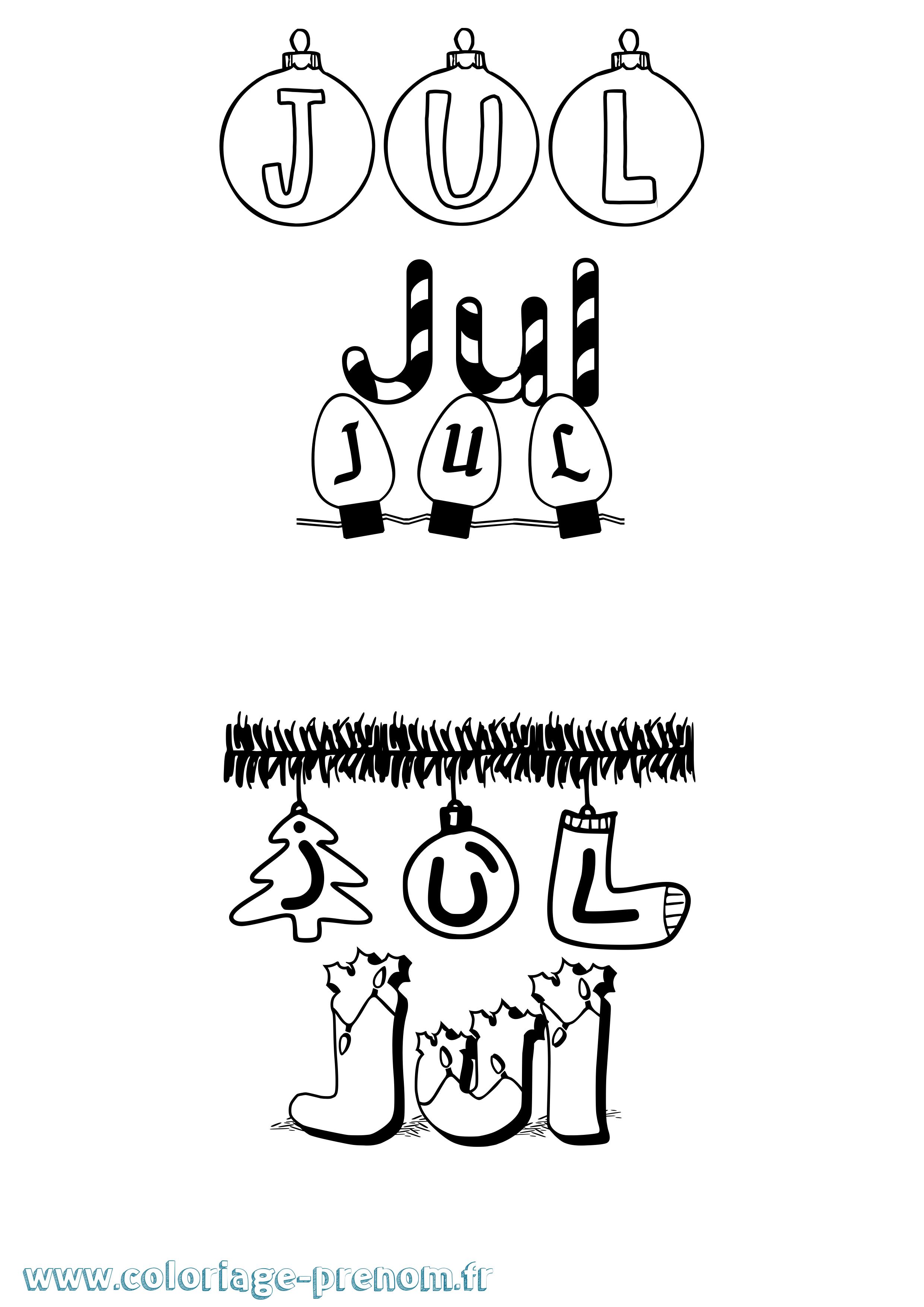 Coloriage du prénom Jul : à Imprimer ou Télécharger facilement