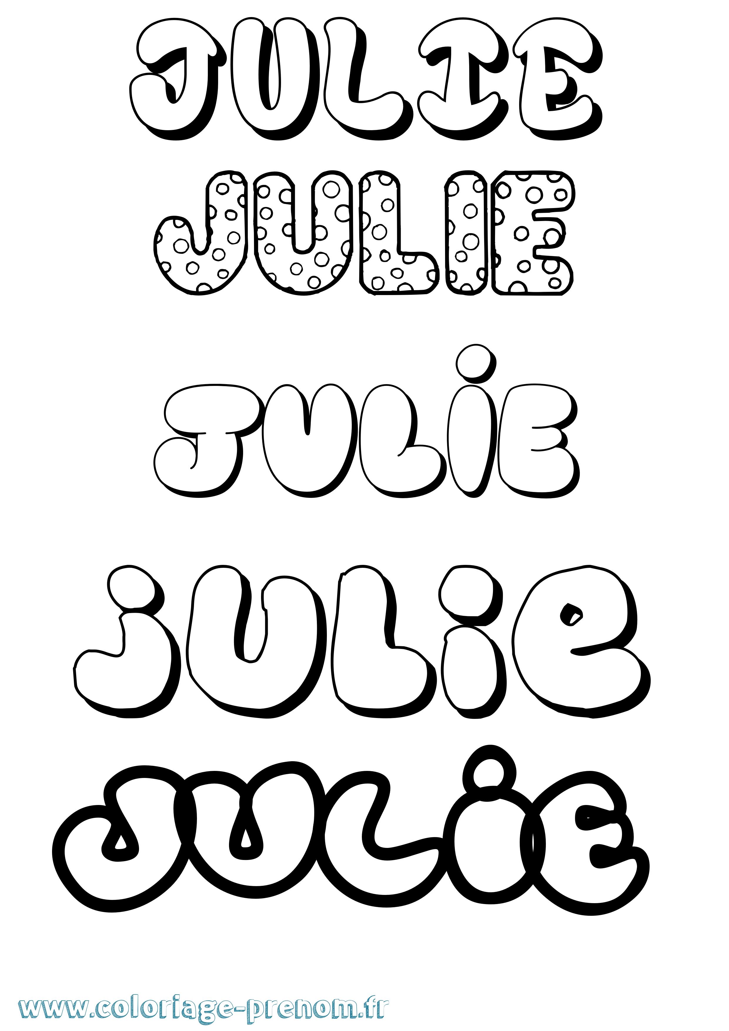 Coloriage du prénom Julie : à Imprimer ou Télécharger facilement