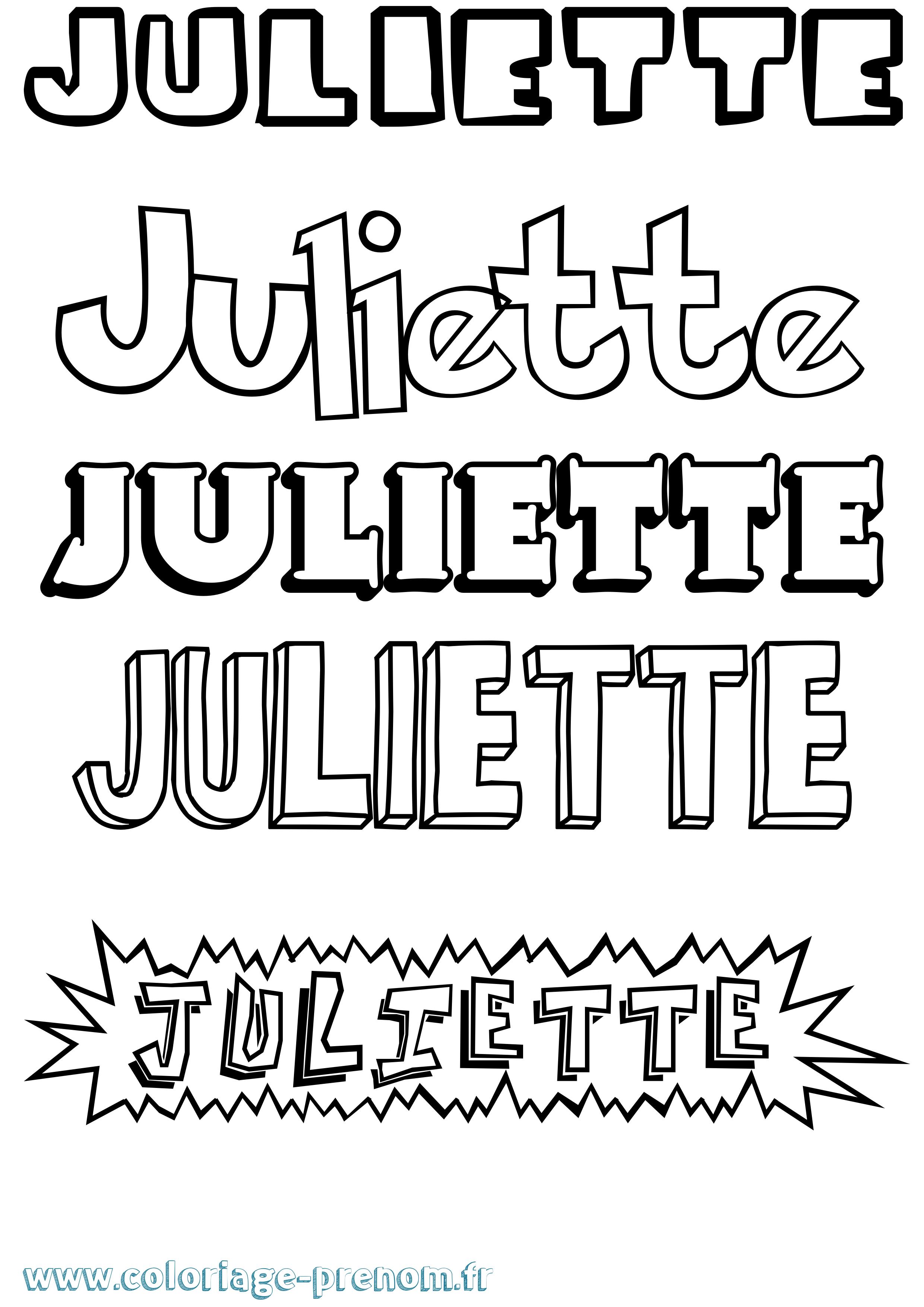 Coloriage du prénom Juliette : à Imprimer ou Télécharger ...