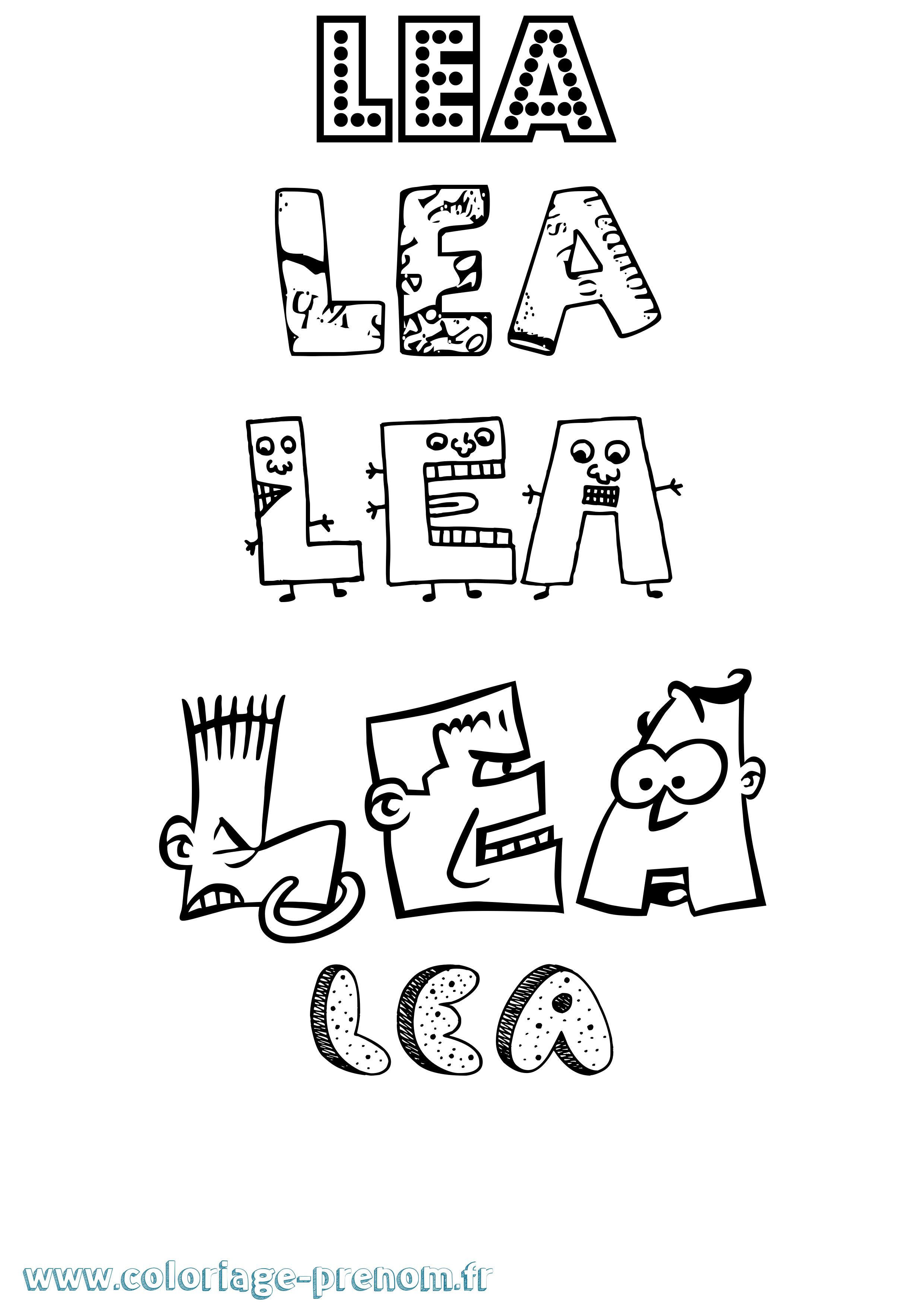 Coloriage du prénom Lea : à Imprimer ou Télécharger facilement