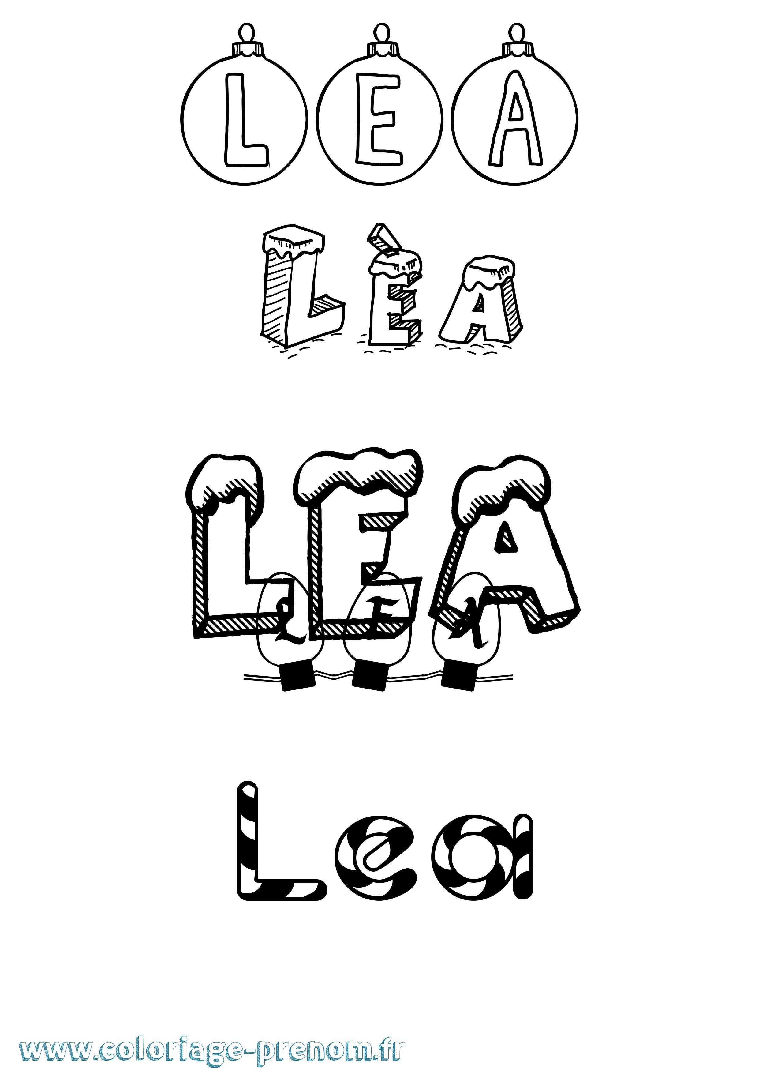 Coloriage du prénom Lèa : à Imprimer ou Télécharger facilement