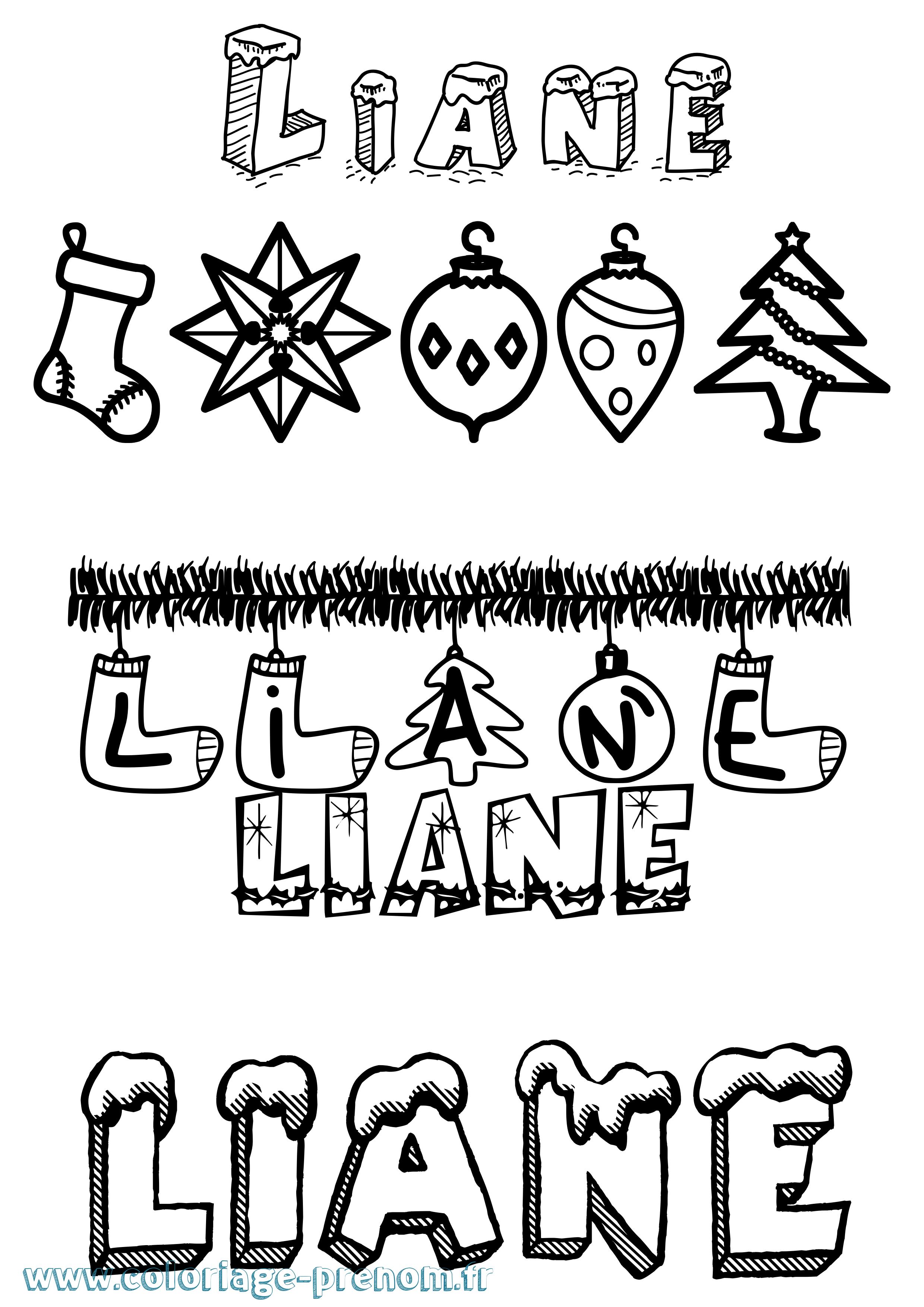Coloriage du prénom Liane : à Imprimer ou Télécharger ...