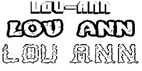 Coloriage du pr nom lou anne imprimer ou t l charger facilement - Lou coloriage ...