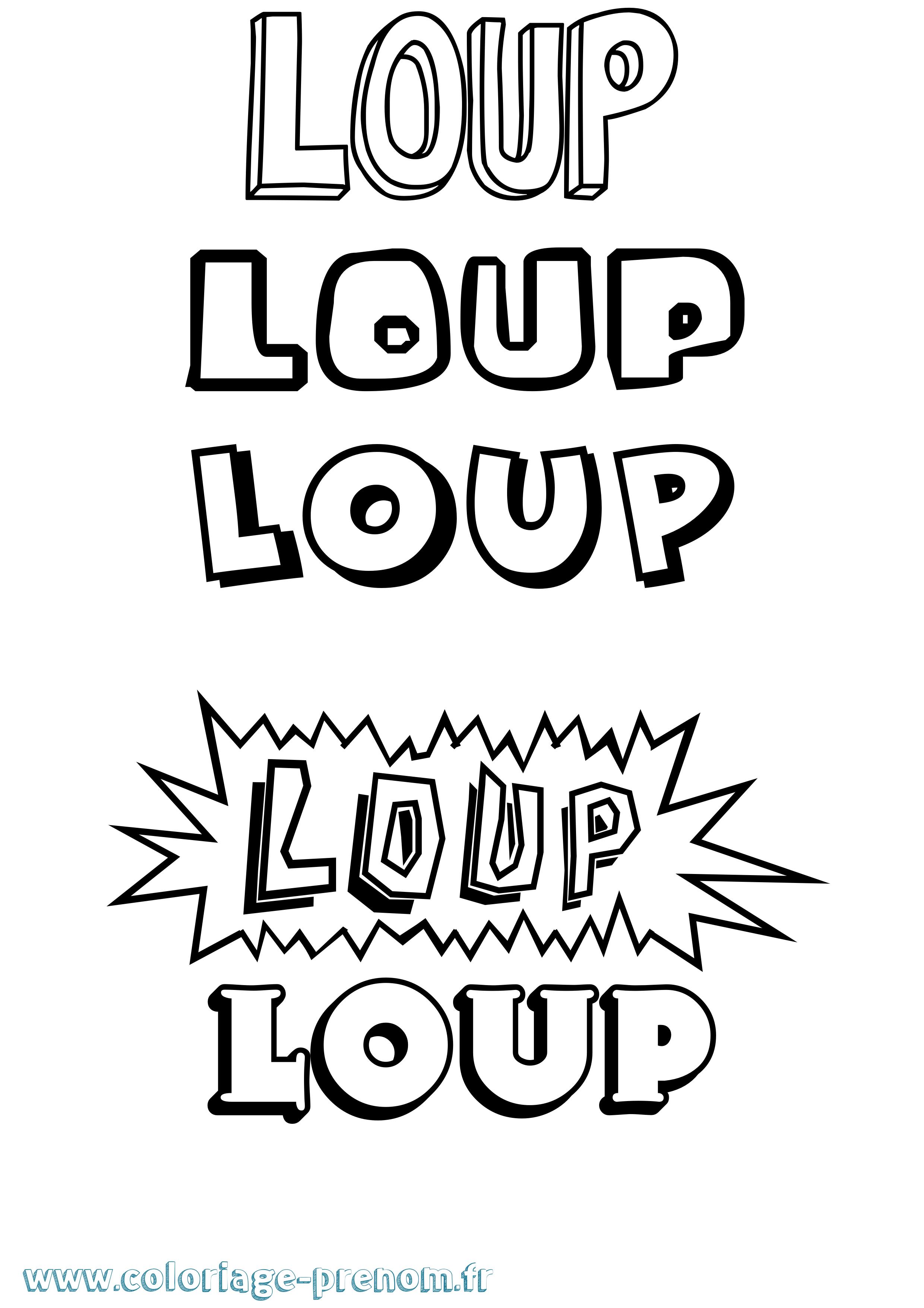 Coloriage du prénom Loup : à Imprimer ou Télécharger ...